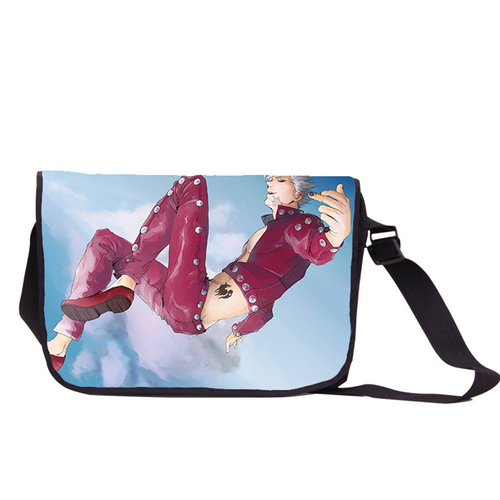 Siawasey Anime The Seven Deadly Sins Cosplay Backpack Messenger Bag Shoulder Bag by Siawasey (Image #1)