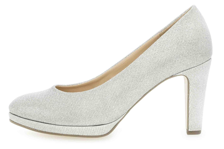 Gabor Fashion Pumps in Übergrößen Silber 21.270.81 große Damenschuhe