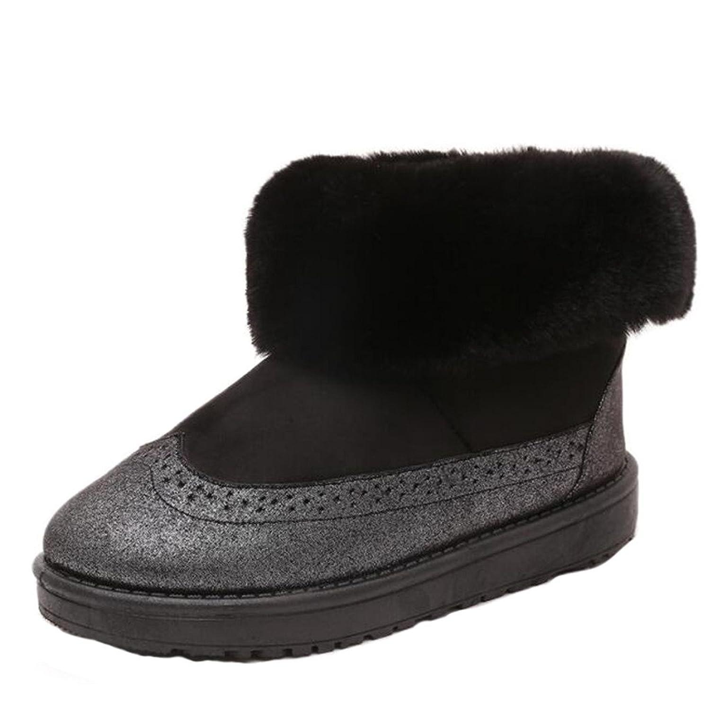 Women Snow Boot Ladies Boots Girls Shoes Autumn Winter Snowy Warm Fox Fur Nubuck leather Thicken Short Boots