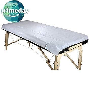 Bed facial massage sheet spa table read