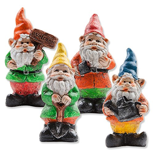 Gnome Garden: Gift Boutique Mini Fairy Garden Gnome Set Of 3 Statue
