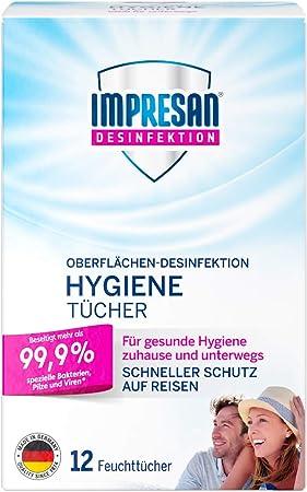 Impresan Hygiene Tucher Feuchte Desinfektionstucher