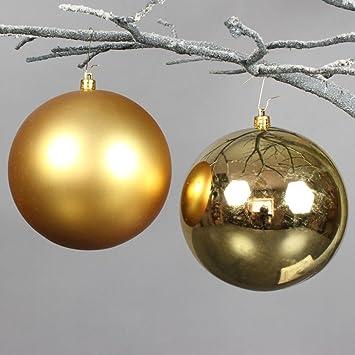 Christbaumkugeln 12 Cm Durchmesser.Christbaumkugeln Weihnachtskugeln Dekokugeln 12 Cm Gold 4 Stk Glanzend Matt
