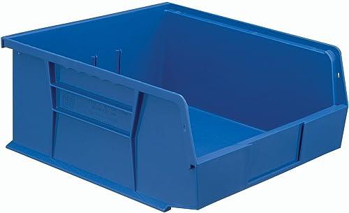 Hanging Stacking Storage Bin 11 x 10-7 8 x 5, Blue – Lot of 6