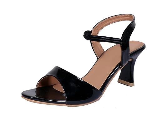 Super Comfortable Black Heel Sandal