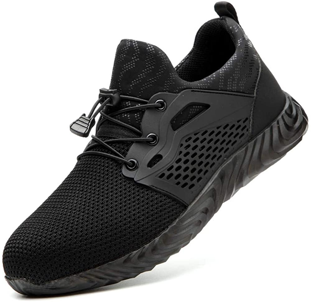 Tobocoy Steel-Toe Shoes Men Women Work Safety Indestructible Shoes Composite Toe Industrial Construction Comfortable /& Breathable Shoes Puncture Proof Sneakers