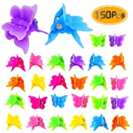 Bignc 150pcs Mini Butterfly Hair Clips, Assorted Color Bulk Small Butterfly Hair Clips for Women and Girls