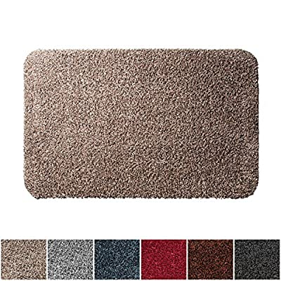 casa pura ECOGuard Entrance Mat | Natural | 100% Cotton Pile | Highly Absorbent | Multiple Colors and Sizes Available