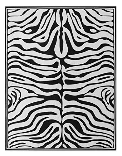 Zebra Black Area Rug - 6