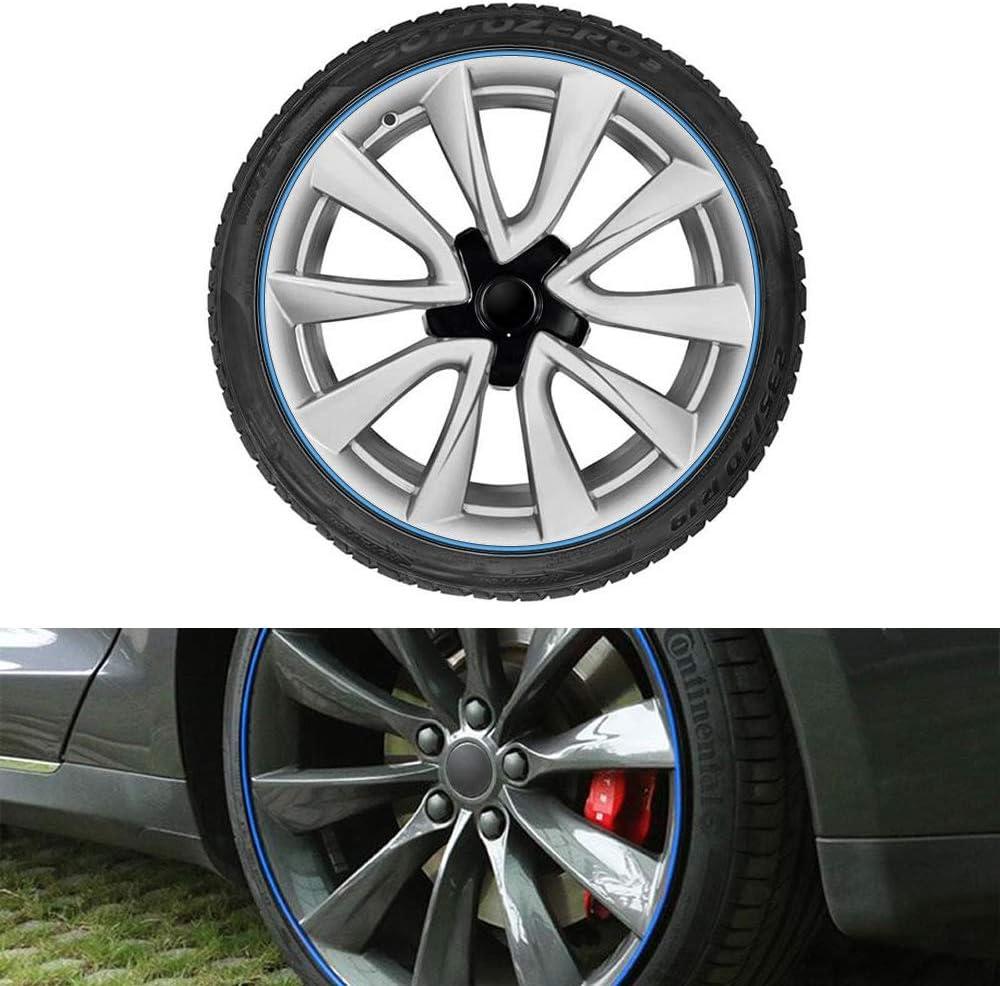 Green Full Kit Rim Protection Wheel Bands Red in Black Pinstripe Rim Edge Trim Fit for Tesla Model 3 Model S Model X