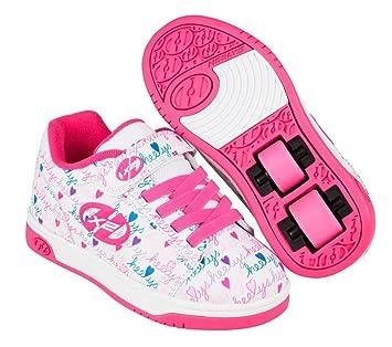 Zapatos de niña con ruedas, colores rosa y blanco, Heelys Dual Up X2: Amazon.es: Deportes y aire libre