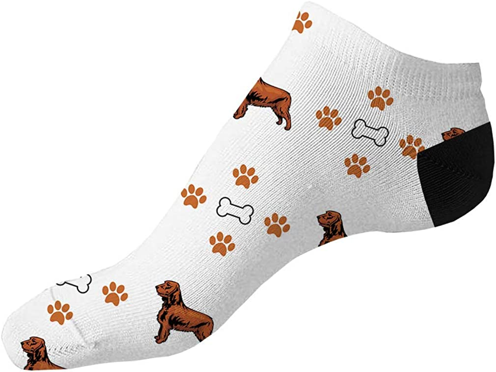 Field Spaniel Dog Bones Paws Pattern Men-Women Adult Ankle Socks