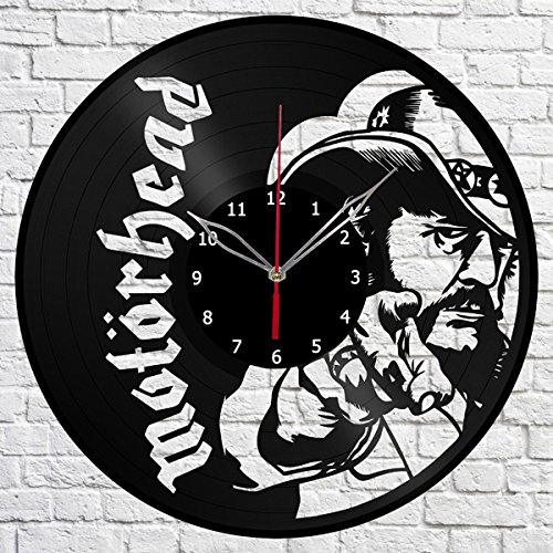 Motorhead Christmas - Motorhead Vinyl Record Wall Clock Fan Art Handmade Decor Original Gift Unique Decorative Vinyl Clock 12