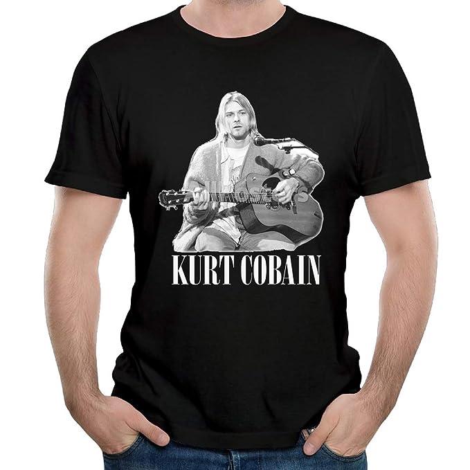 Amazon.com: SID025DK Kurt Cobbain - Camiseta para hombre ...