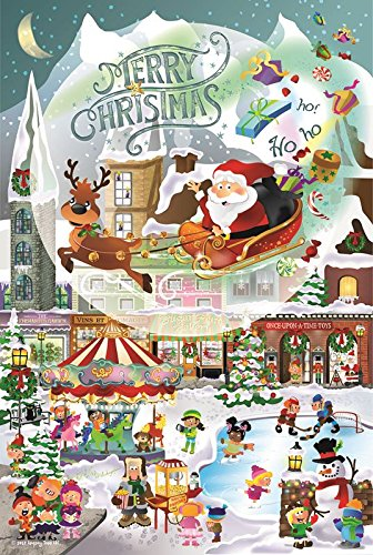 A Christmas Village for All Ages Family 625 Piece Jigsaw Puzzle by SunsOut