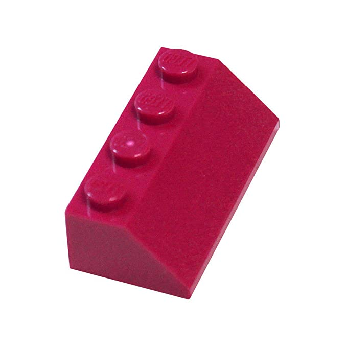 NEW RED Lot of 100x Genuine LEGO Slope 45° 2 x 1 Slopes Roofing Slope Bricks