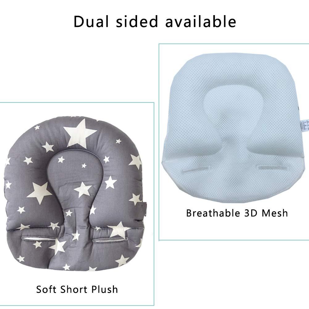 Inchant Orthop/ädisches Babykissen Anti-plattkopf heilt Deformation des Babys und Verhinderung von plagiocephischem Babykissen Star Grey