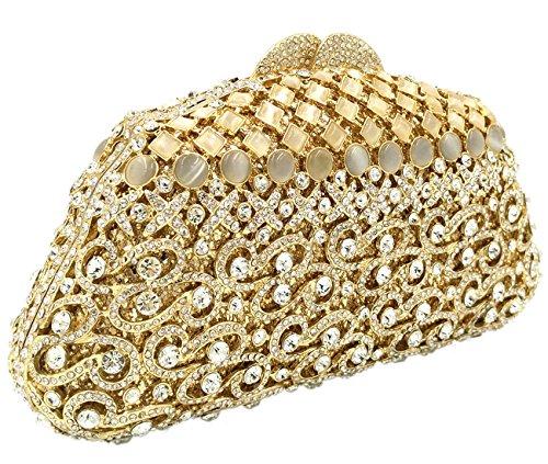 f5d4208d2f Oro Pochette Festa Gold Sera Borsa Sacchetto Borsetta Eleganti Diamante  Portafoglio Frizioni Da Donna Cerimonia 7wWfxqTA
