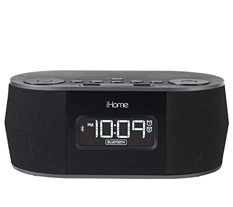 iHome Wireless Bluetooth Stereo, Dual FM Alarm Clock Radio, USB Charging, Alarm Clock For Bedrooms, Alarm Clock, Voice Echo Cancellation, Twin ...
