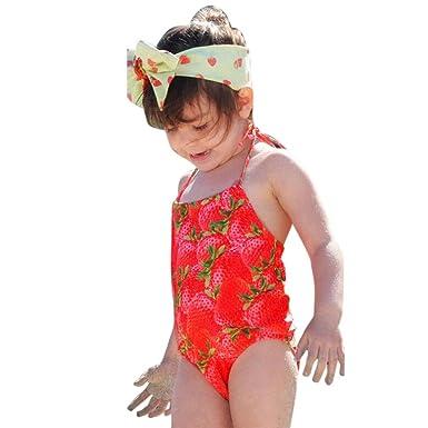 Baby Girls Strawberry Swimwear Swimsuit Kids Bikini Bathing Suit Beachweear WEAR