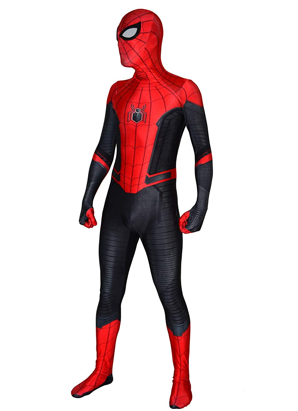 US Spider-Man Far From Home Cosplay Costume Spiderman Zentai Suit Kids Alults