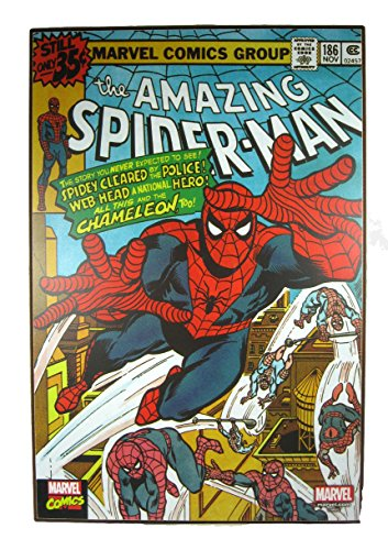 "Silver Buffalo The Amazing Spider-Man in Action! Wood Wall Art 19"" x 13"""