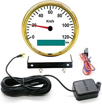 Car 85mm GPS Digital Speedometer Stainless Waterproof Gauge 120KM//H Speed Meter