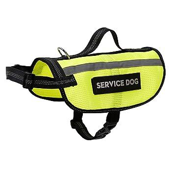 AZUO Servicio Que Refleja el Arnés del Chaleco del Perro con la ...