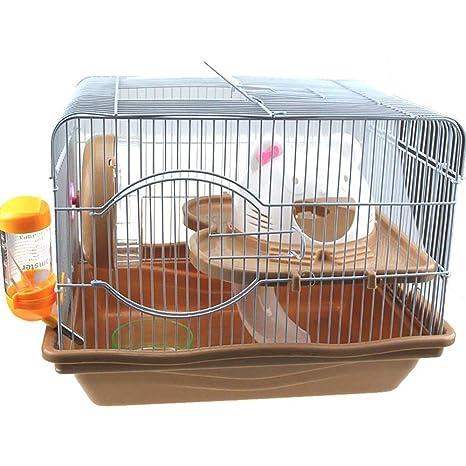 Gouwo Hamster Jaula, gatito Cabeza Cage, de plástico verde alambre ...