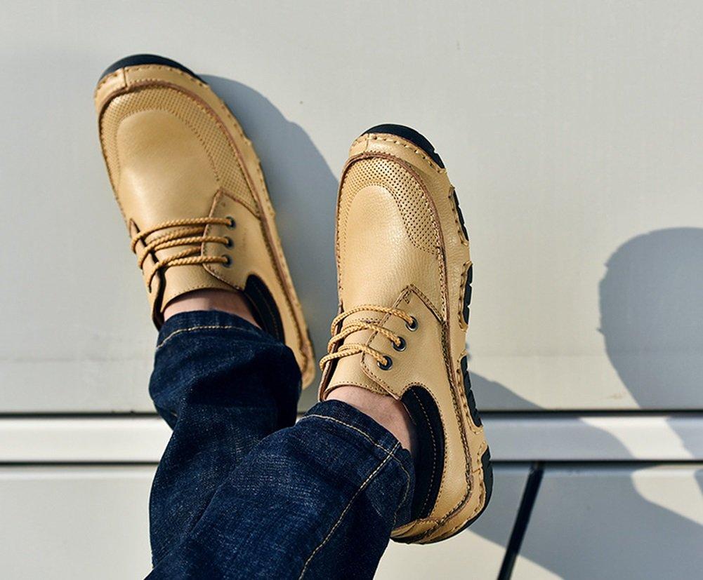 CAI Herren Echtleder Freizeitschuhe 2018 Sommer Herbst   Winter Herren Herren Winter Outdoor-Fahren Schuhe Leder Loafers & Slip-Ons (Farbe   Beige, Größe   40) ec2f27