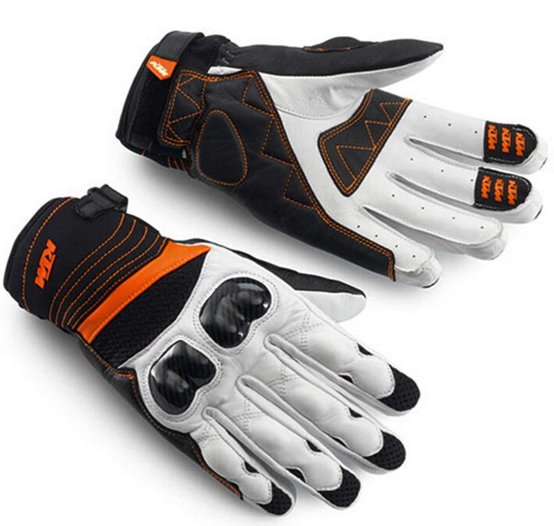 Tatkldisu Outdoor Sports Vollfinger Radfahren/Motorrad/Klettern/Wandern/Jagdbekleidung Handschuhe (Farbe : Weiß, Größe : XL)