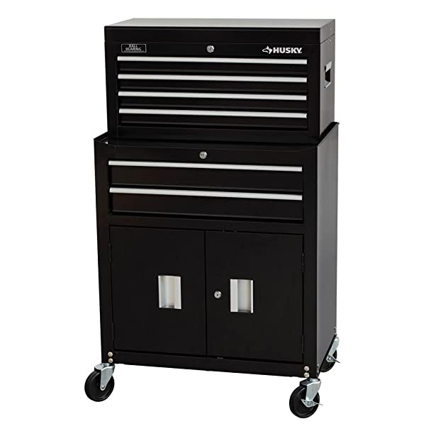 Amazon.com: Husky Rolling Tool Chest Cabinet in Black (26 in. 6 ...