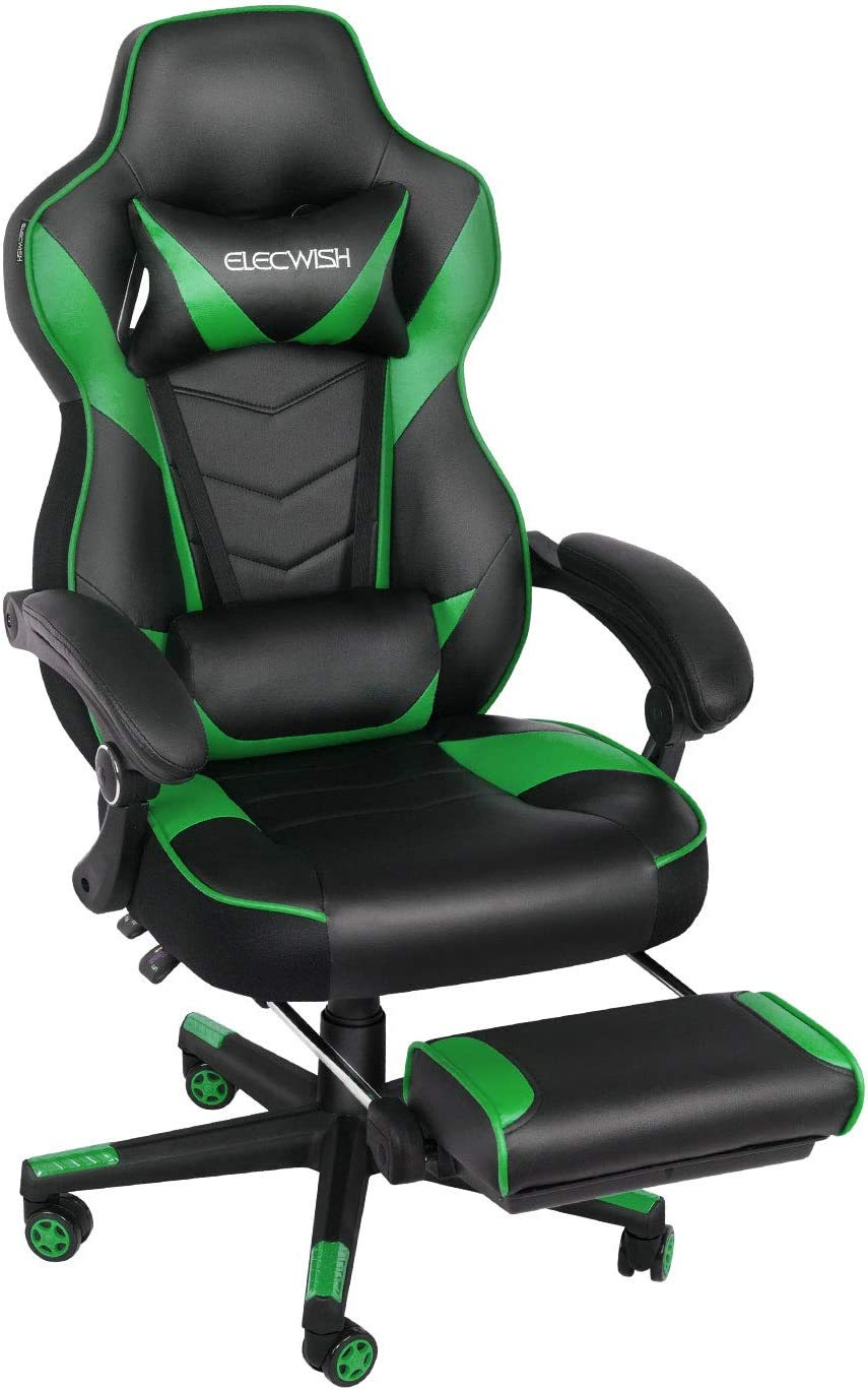 Amazon.com: ELECWISH Racing Video Gaming Chair High Back Large
