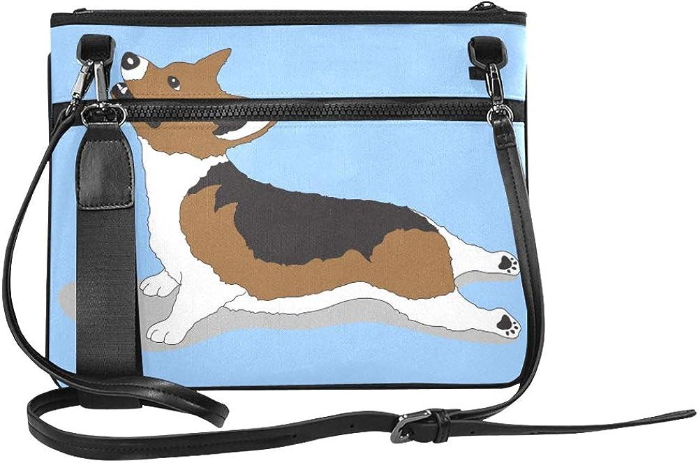 Upward Facing Dog Yoga Pose From Pembroke Welsh C Pattern Custom High-grade Nylon Slim Clutch Bag Cross-body Bag Shoulder Bag