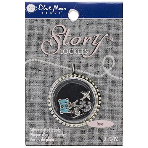 Blue Moon Beads SLKCHRM-245 Story Lockets Metal Charm, Travel, Assortment, 5-Pack