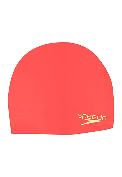 fc3b568f657 Buy Speedo Elastomeric Solid Silicone Swim Cap, Coral, One Size Online at  Low Prices in India - Amazon.in