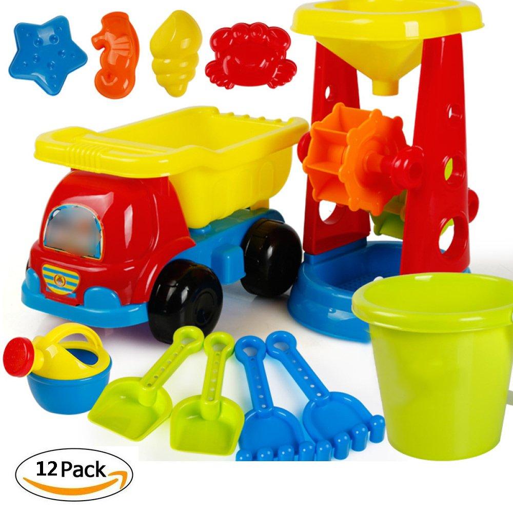 VGHJK Children's Toy Set Boy Girl Baby Baby Play Sand Large Hourglass Sand Shovel Shovel Bucket Tool Bath Water Tool(random Color),J