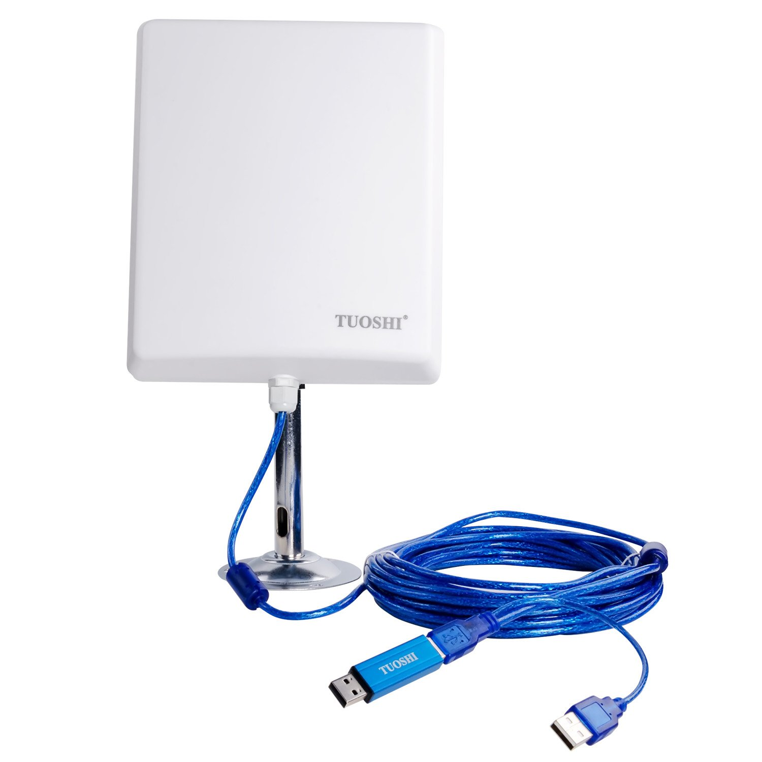 TUOSHI N4000 Long Range Indoor Outdoor USB WiFi Wireless Adapter with 36dBi High Gain Antenna Extension Cable 150Mbps by TUOSHI