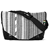 Acaat Messenger Bag from Ethnotek with hand-woven outside panel created using traditional techniques (India 8)