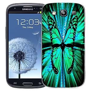 Móvil Samsung Galaxy S3 i9300 Case Mate en silicona parachoques y lápiz - Hybrido mariposas (silicona)