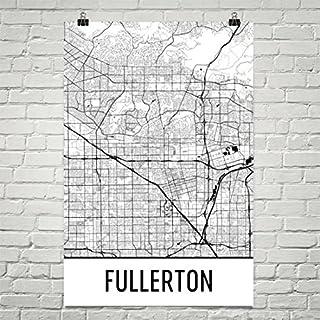 Carte Fullerton Moderne, Carte, Fullerton Art, Impression Fullerton, Affiche Fullerton CA, Sticker Fullerton, Cadeau Fullerton, Carte de la Californie, Affiche de la Californie 12'x18' Affiche de la Californie 12x18 Modern Map Art