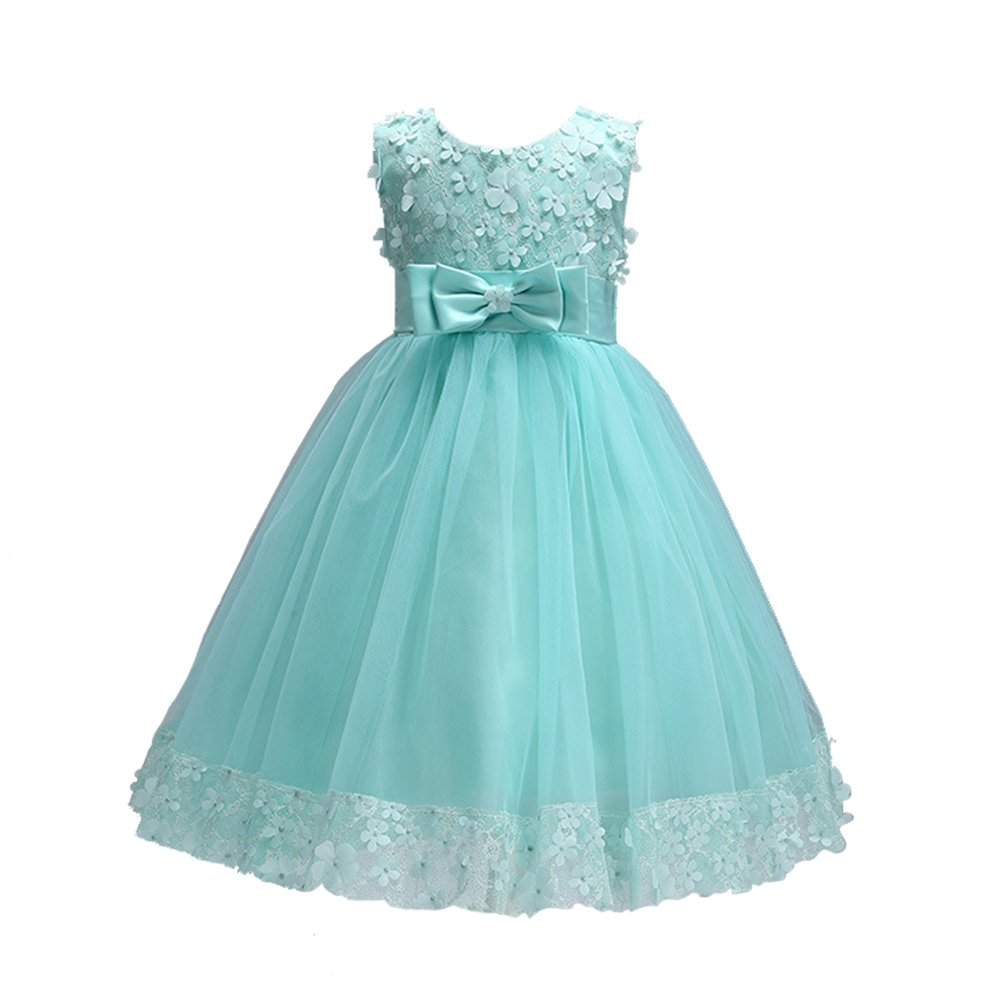 Weileenice 1-14T Big/Little Girl Ball Gown Lace Party Dresses A-line ...