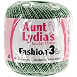 Coats Crochet Aunt Lydia's Fashion Crochet, Cotton Size 3, Sage
