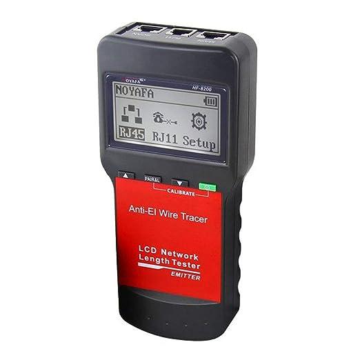 Buscador de línea NF-8200 Pantalla LCD RJ45 Cable Cable Tester ...