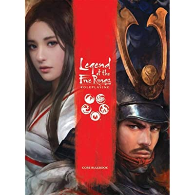 Fantasy Flight Games Legend of the Five Rings Core Rulebook , Red , Small: Toys & Games