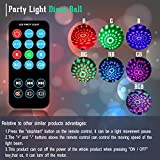 Spriak Party Lights Disco Ball 3w Led Sound Actived Strobe Stage Christmas Halloween Rgb Led Par Light Lighting with Remote Control for DJ Bar Karaoke Xmas Wedding Show Club Pub