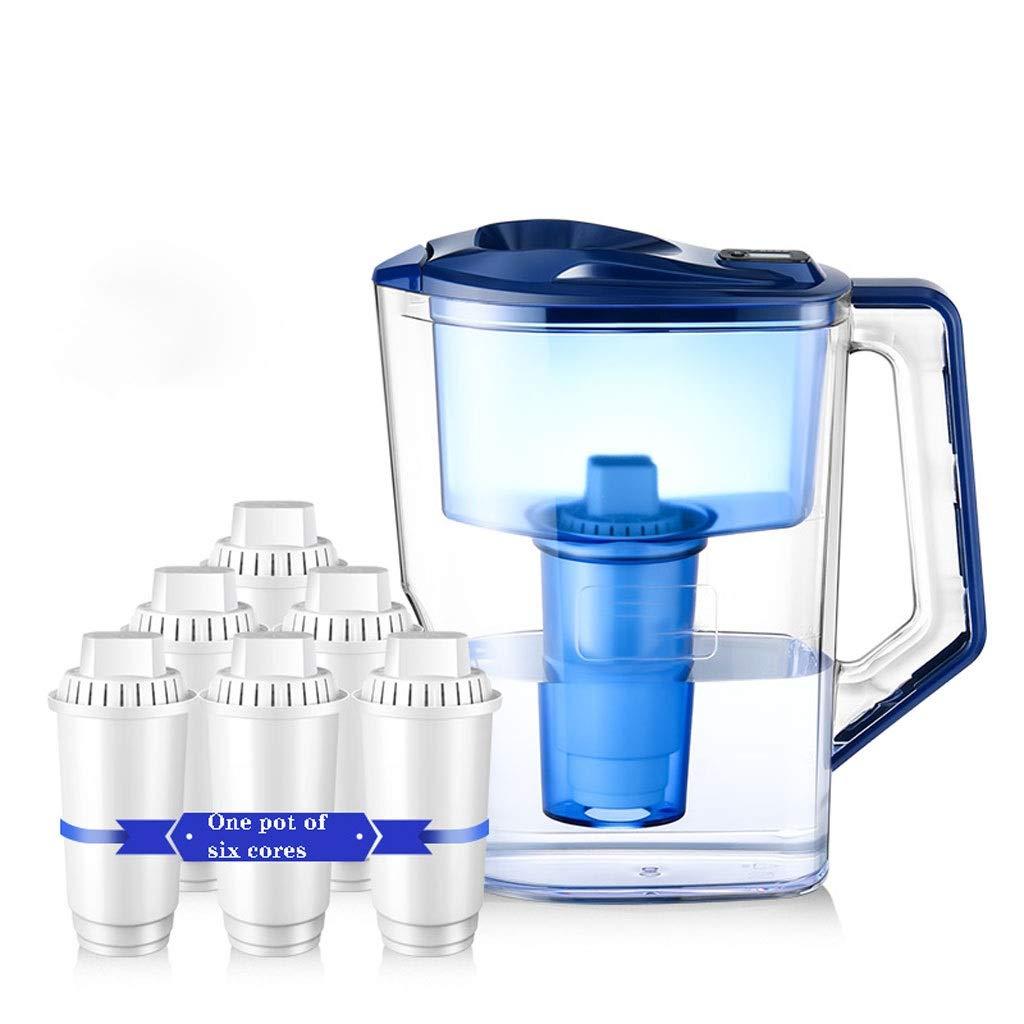 Brocca filtrante per 10 tazze, filtrazione a 5 strati senza BPA per florido, cloro, piombo, metalli pesanti e odore, con 6 filtri Prezzi