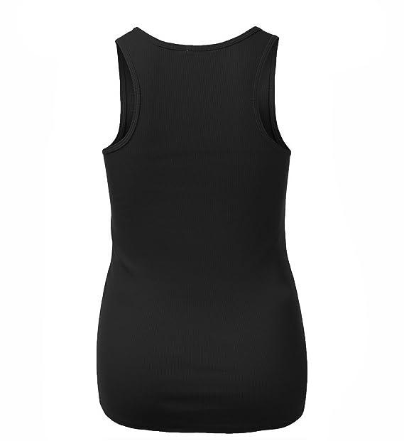 9ec41bb656c94 Amazon.com  Emmalise Women s Active Racerback Ribbed Tank Top Shirt - Junior  and Plus Sizes  Clothing