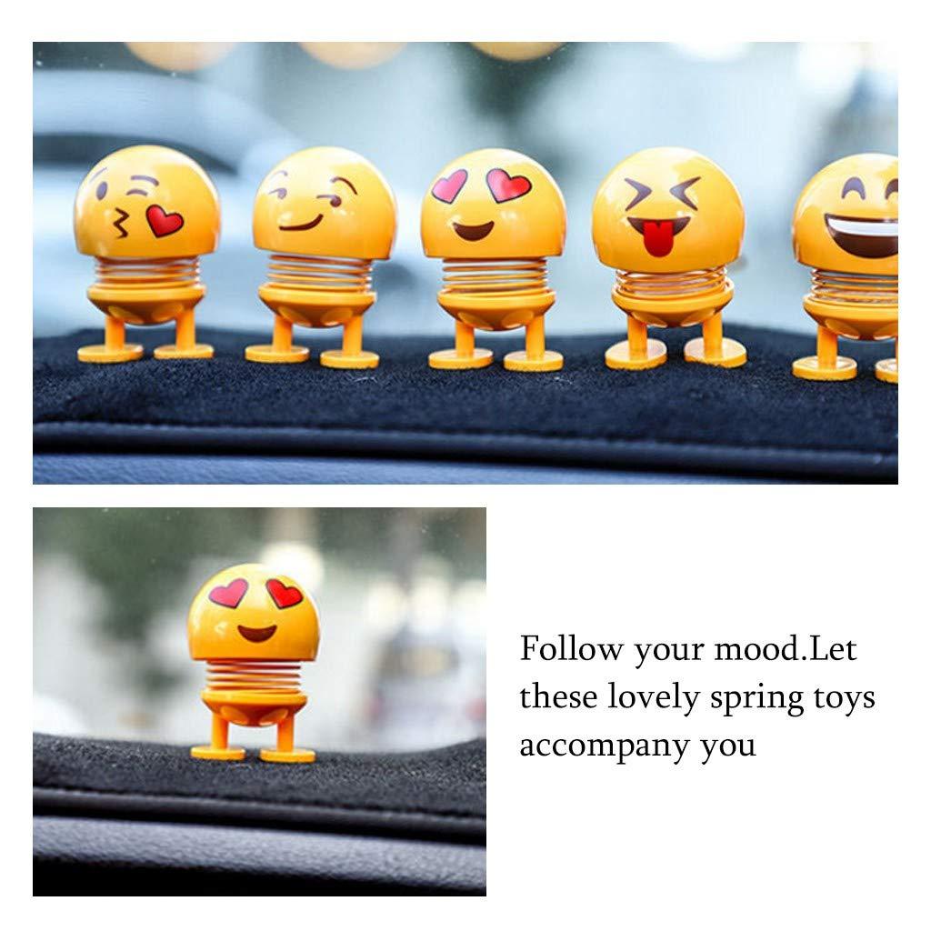 F Voiture D/écoration,Ewendy Jouets de Rebond de D/écoration de Tableau de bord Int/érieur dornement de Smiley Mignon de LED D/écor de voiture