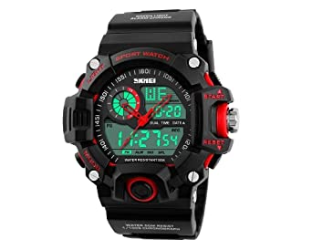 Amazon.com: Relojes de Hombre De Moda 2018 Reloj Sport LED Digital Military Para Caballeros RE0100: Watches